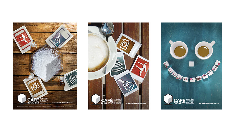 Graphic design, Cafe Budapest Art Festival prints